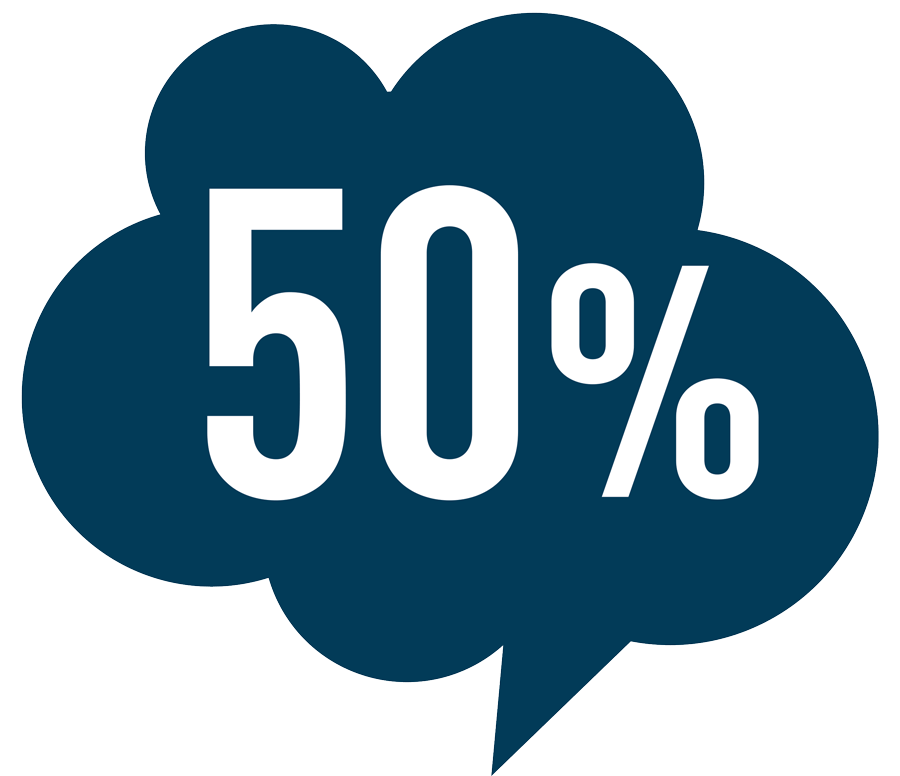 Bis 50% günstiger drucken