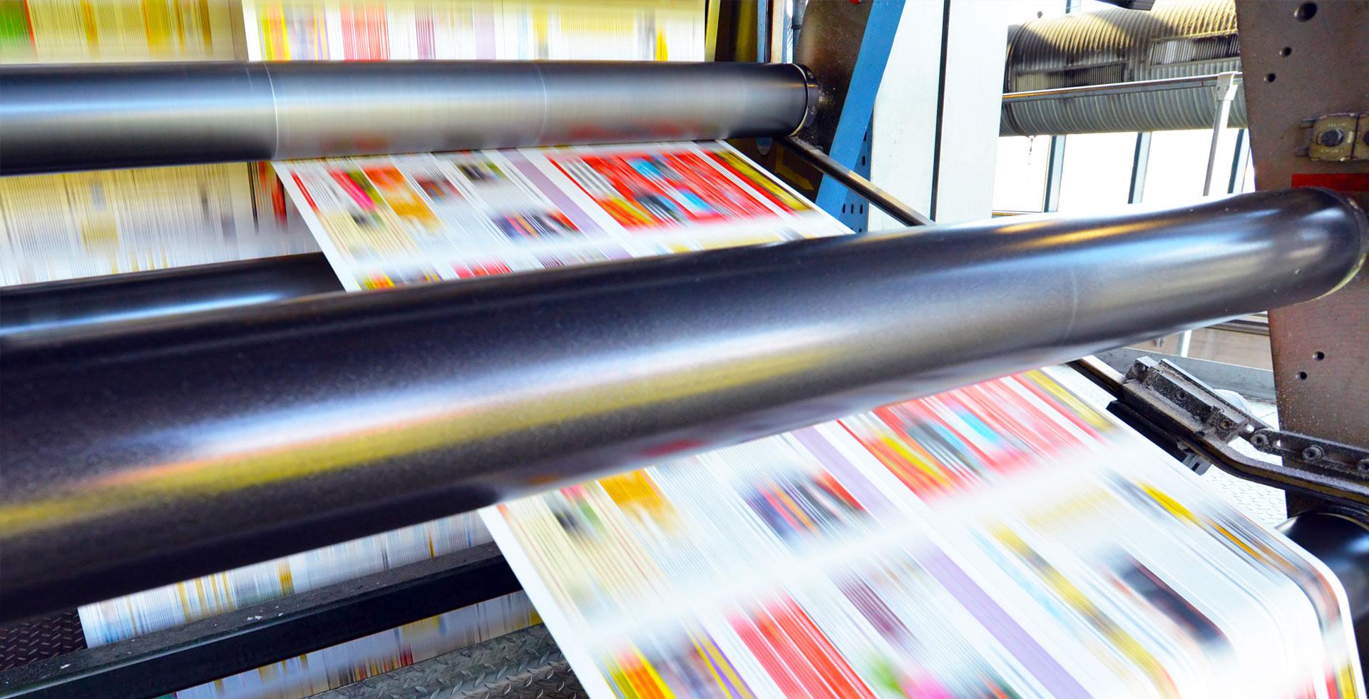 Druckmaschine Druckproduktion Bild 02